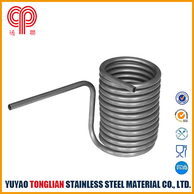 condensing coiled pipe